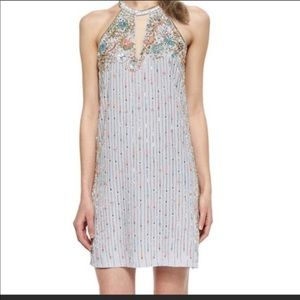 Parker halter sequin dress